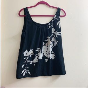 New York and company floral tank top size XL